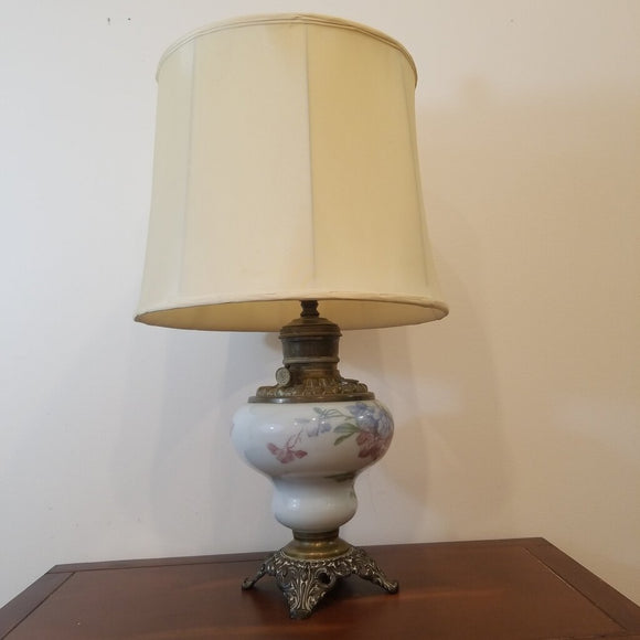 Antique Converted Oil Lamp, 19th Century, Needs Rewiring