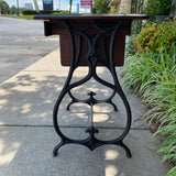 Iron Base Vintage Drop Leaf Side Table