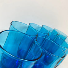 Load image into Gallery viewer, Anchor Hocking Laser Blue Vintage Flair Water Glasses - 8