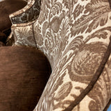 Hickory Chair Brown Upholstered Accent Chairs - Pair