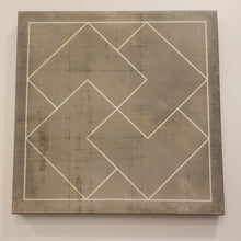 Load image into Gallery viewer, Gray Distressed Geometric Canvas Art