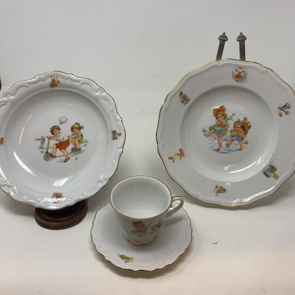 Johann Haviland Bavaria 4 Piece Childs Set