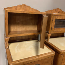 Load image into Gallery viewer, Antique Oak Night Stands or Dental Barber Cabinets