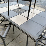 Outdoor Tile Top Dining Set w Chairs