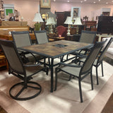 Outdoor Tile Top Dining Table & Chairs Set