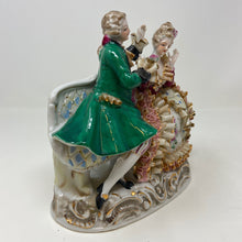 Load image into Gallery viewer, Courting Victorian Style Porcelain Figurines on Sofa