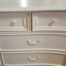 "Load image into Gallery viewer, Stanley Furniture Seven Drawer White Dresser with Curved Foots, 35"" H"