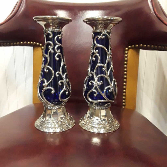 Vintage Candle Holders (Pair)