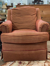 Load image into Gallery viewer, Red & Gold Houndstooth Armchair by Stanford Furniture