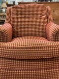 Red & Gold Houndstooth Armchair by Stanford Furniture