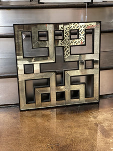 Geometric Mirror Black Accent Wall Decor