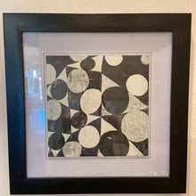Load image into Gallery viewer, Michael Mullan Framed Black & White Abstract Circle Art
