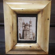 Load image into Gallery viewer, B/W Architectural Towers In Vintage Style Frame