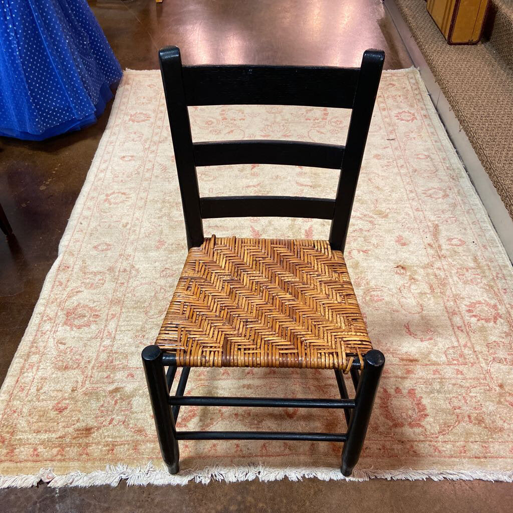 Painted Black Ladder Back Chair