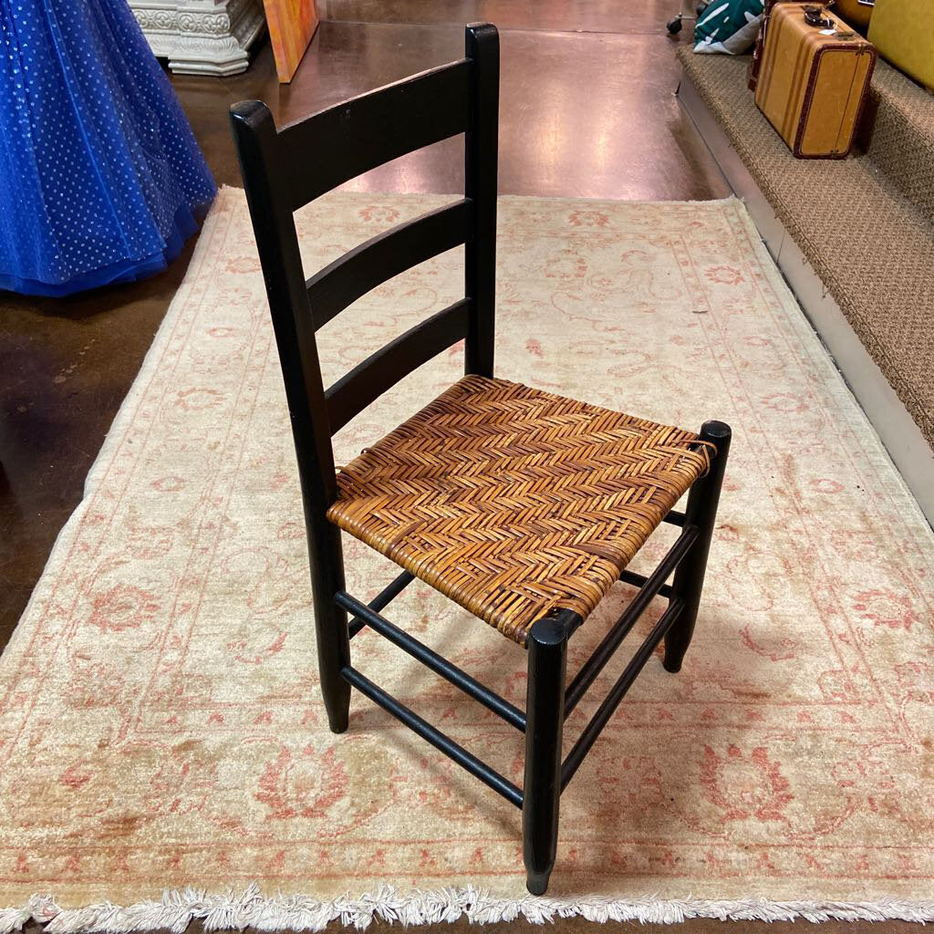 Picture of: Painted Black Ladder Back Chair Serendipity
