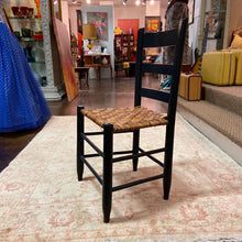 Load image into Gallery viewer, Painted Black Ladder Back Chair