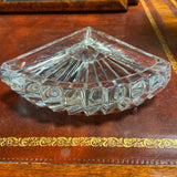 Crystal Fan Shaped Dish Bowl