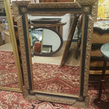 Gold & Black Regency Dog Ear Beveled Wall Mirror