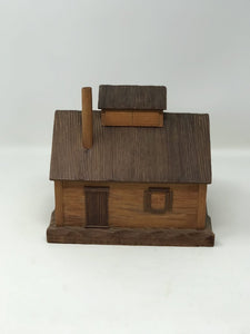 Carved Wood House Box St Jean Port Joli