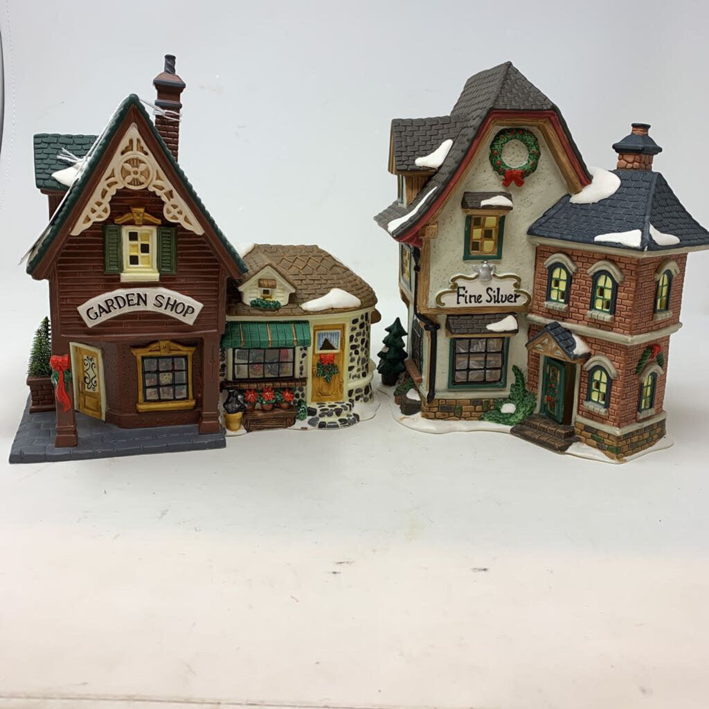 Limited Edition Christmas Village Pieces by O'Well Set of 2