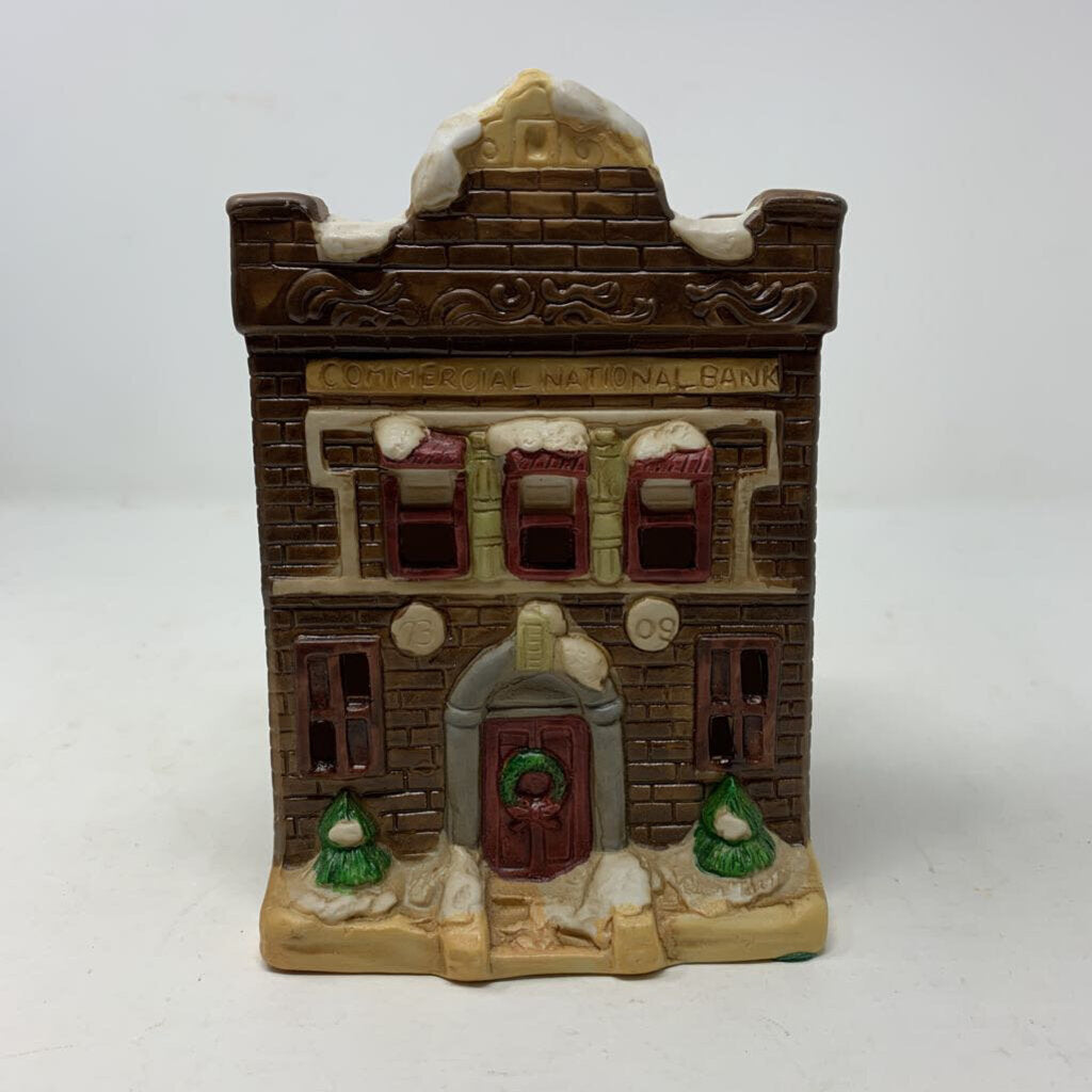 Commercial National Bank Christmas Village