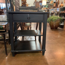 Load image into Gallery viewer, Ethan Allen Black Distressed Single Drawer Stand