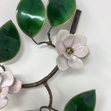 Load image into Gallery viewer, Metal Enameled Magnolia Branch