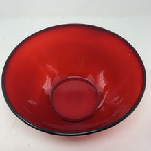 Load image into Gallery viewer, Red Arcoroc Bowl