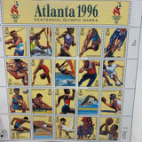 1996 Olympics Postage Stamps Sheet (20 Stamps)