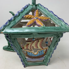 Load image into Gallery viewer, Italian V Pinto Vietri Majolica Lantern Sea Creatures Fish Marine