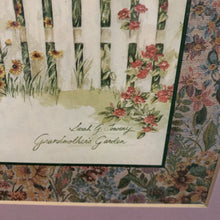 Load image into Gallery viewer, Sarah G Towery Grandmother's Garden Framed Print