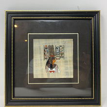 Load image into Gallery viewer, Square Egyptian Painting on Papyrus Framed