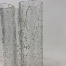 Load image into Gallery viewer, Crackled Hurricane Glass Candle Shade- Set of 3