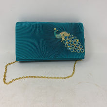 Load image into Gallery viewer, Sasha Peacock Teal Clutch