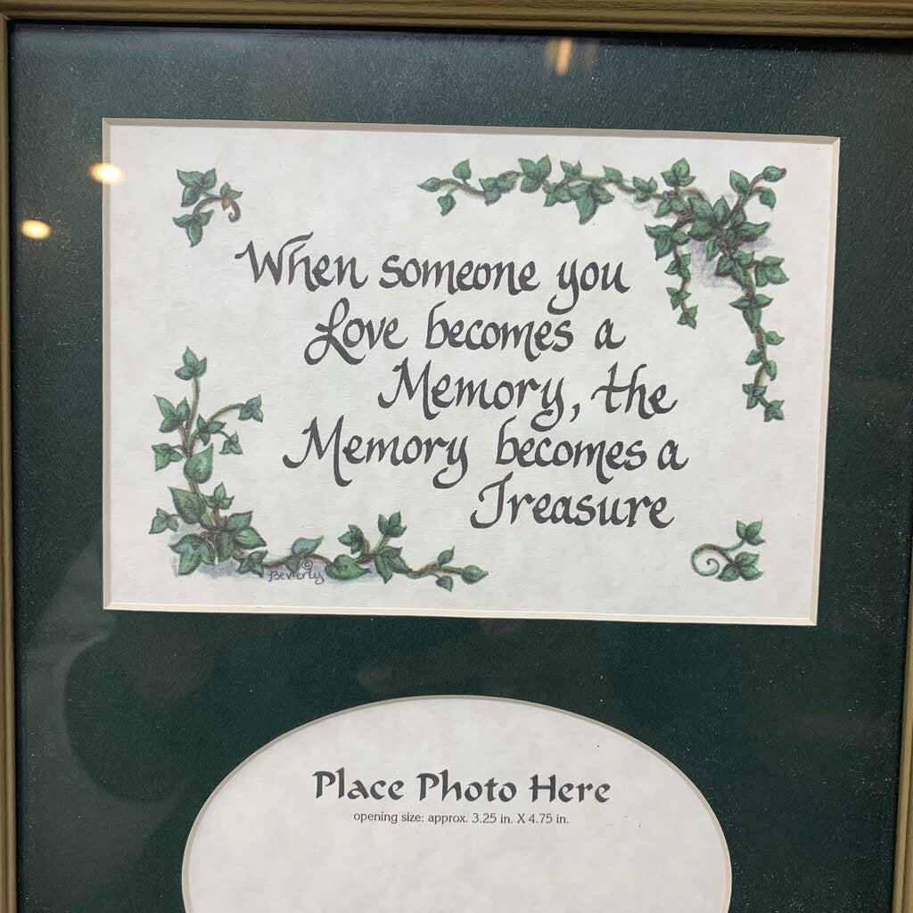 Frame with Quote about Loss