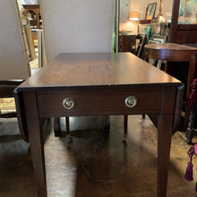 Load image into Gallery viewer, 19th Century Antique Mahogany Tapered Leg Drop Leaf Table