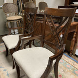 Pair of Walnut Finish Accent Chairs