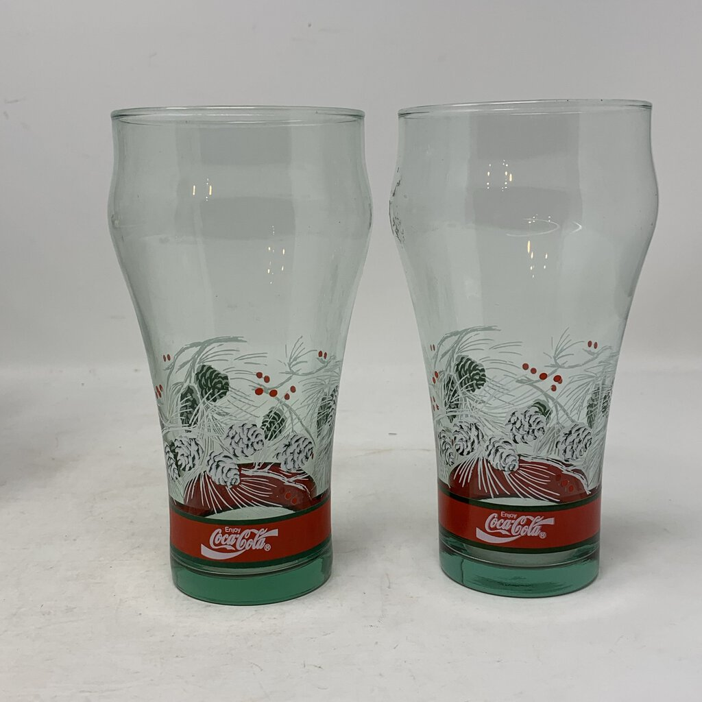 Coca Cola Christmas Glasses- Set of 4