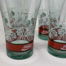 Load image into Gallery viewer, Coca Cola Christmas Glasses- Set of 4