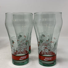 Load image into Gallery viewer, Coca Cola Christmas Glasses- Set of 5