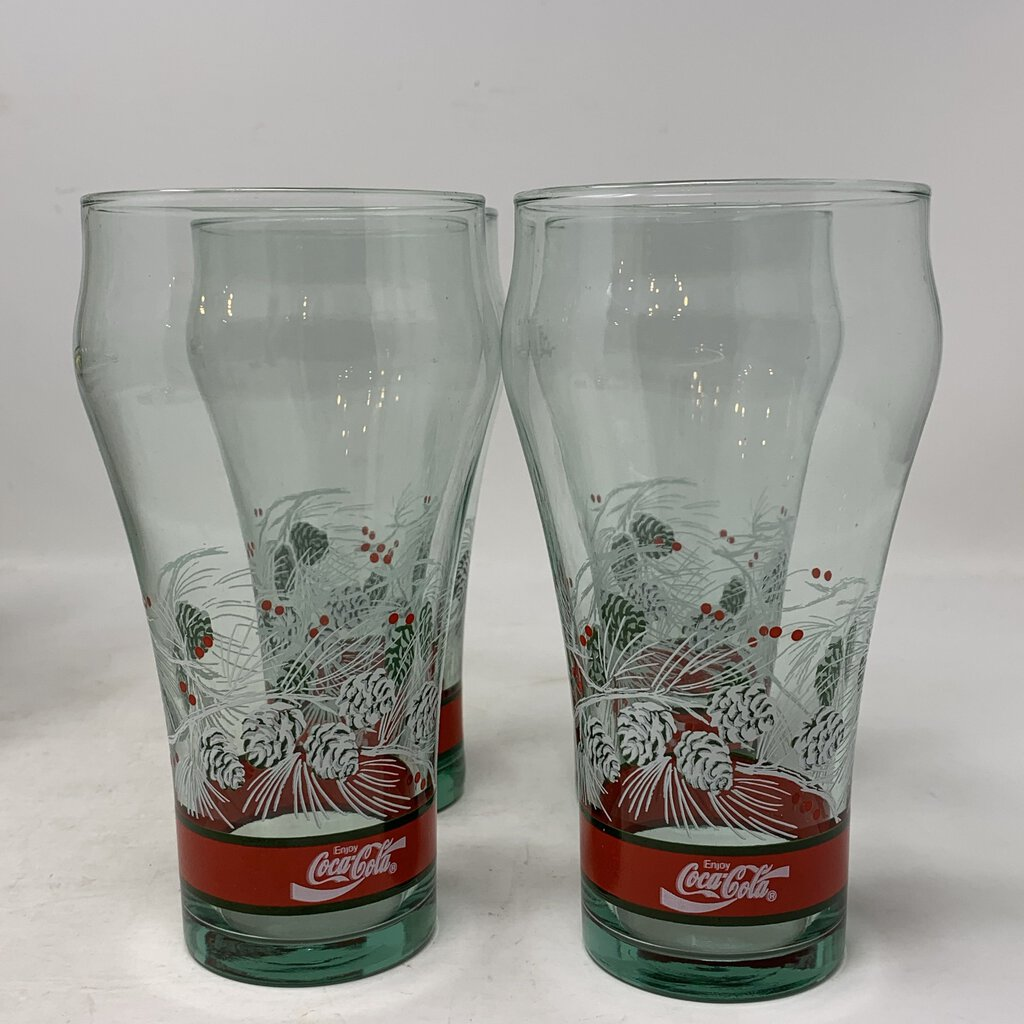 Coca Cola Christmas Glasses- Set of 5