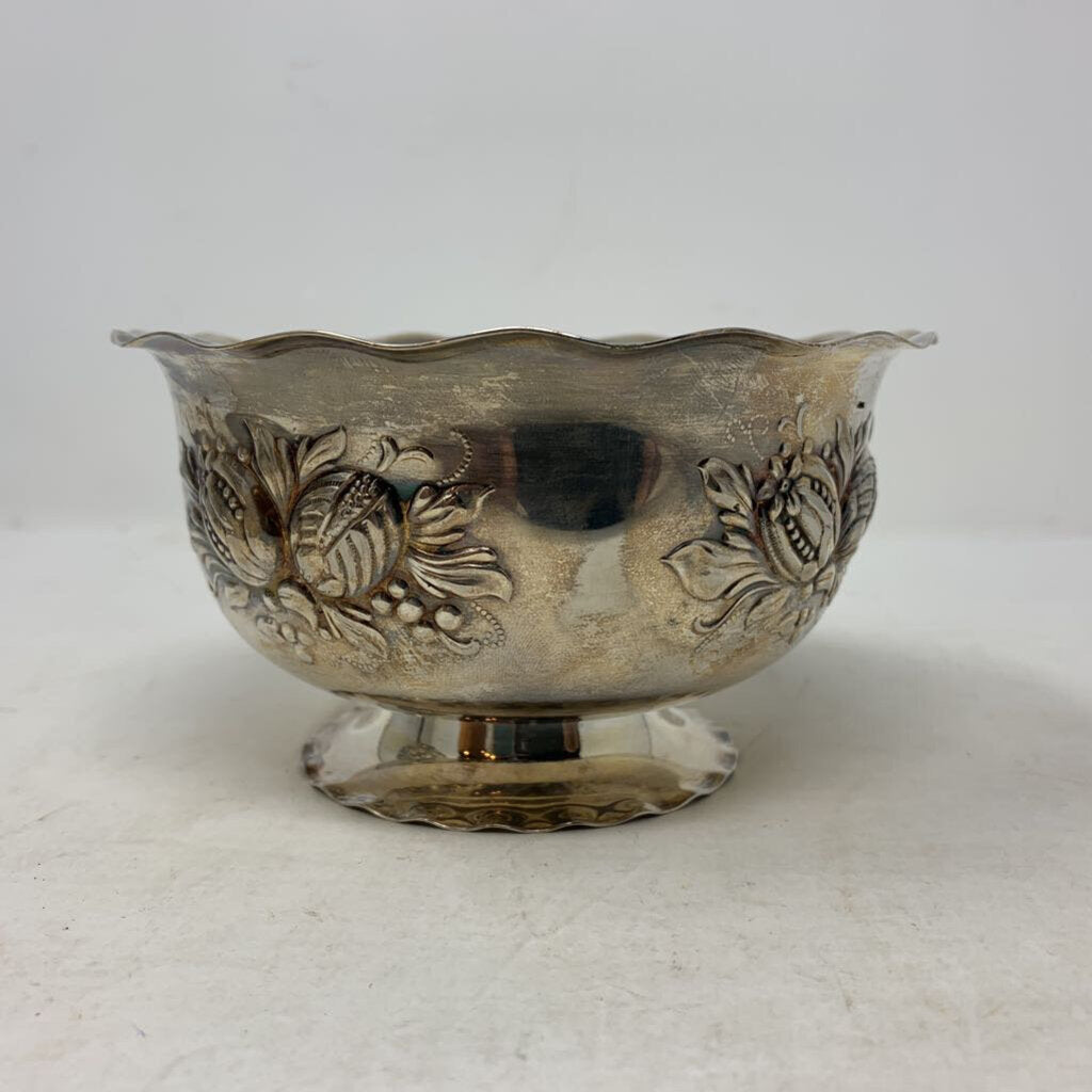 Scalloped Silver Plate Nut Dish