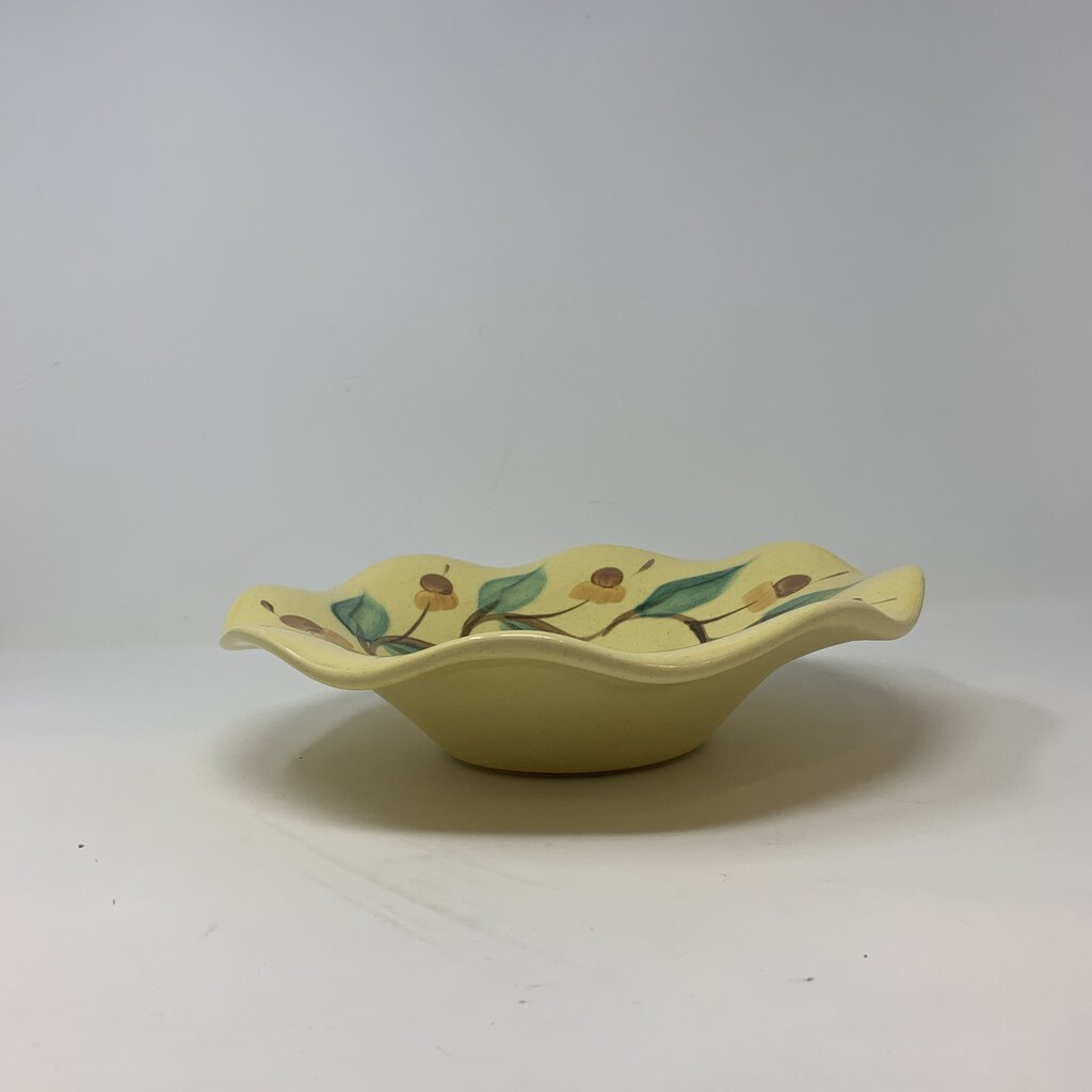 Gail Pittman Yellow Ruffled Bowl Signed