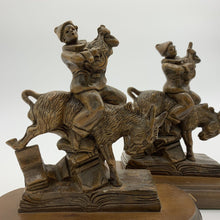 Load image into Gallery viewer, Black Forest Carved Jester and Donkey Bookends (Pr.)