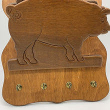 Load image into Gallery viewer, Wood Pig Envelope Letter Key Wall Organizer