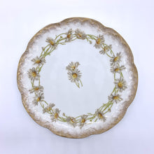 "Load image into Gallery viewer, Limoges Hand Painted A. Lanternier Daisy 9.5"" Plate"