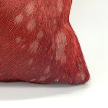 Load image into Gallery viewer, Red & Gold Cowhide Pillow