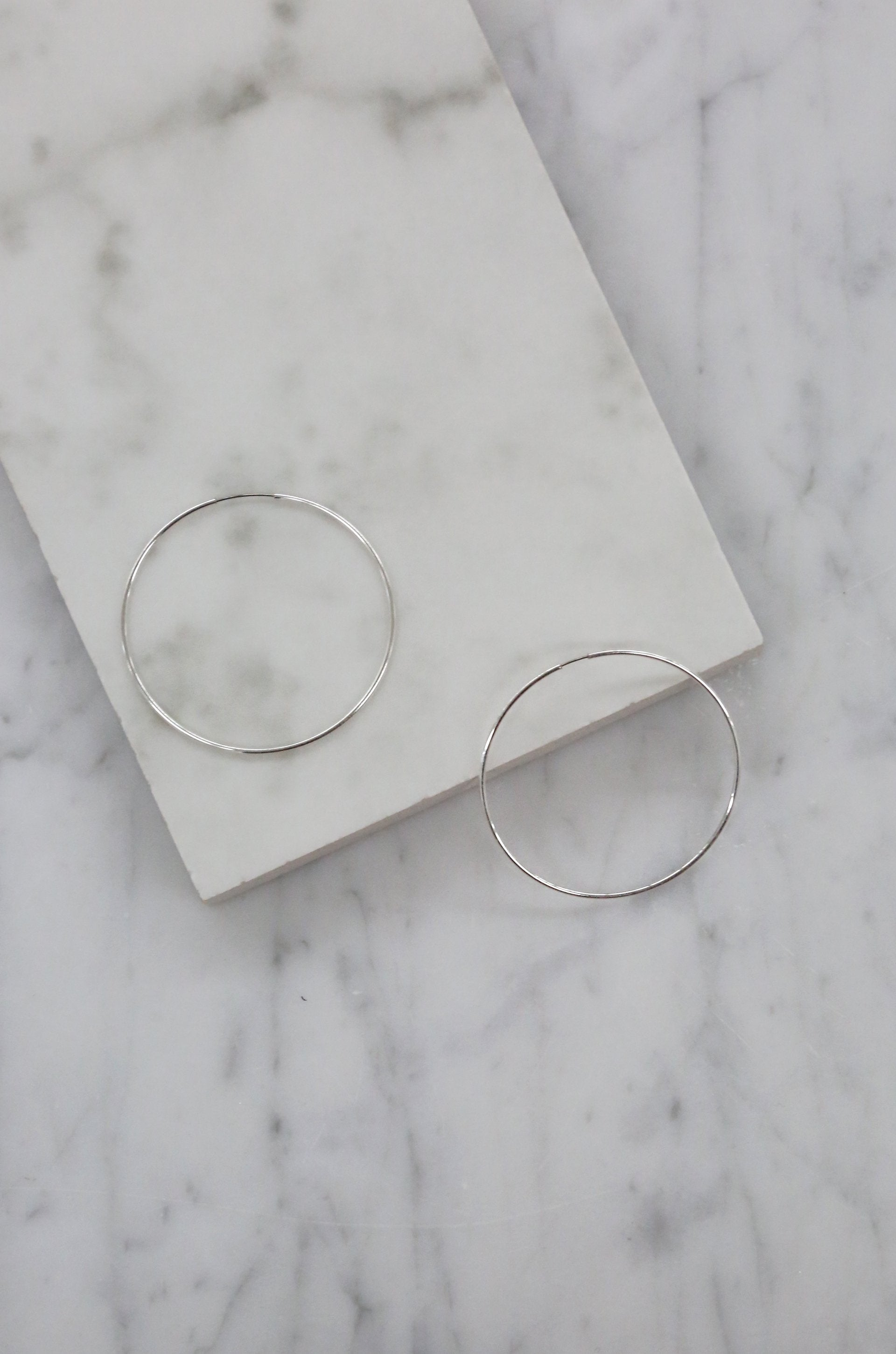 'Barely There' Silver Sass Hoops
