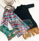 Chevron sequin duster