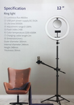"ZGA Selfie Mirror Ring Light With Tripod Stand (10"", 12"")"
